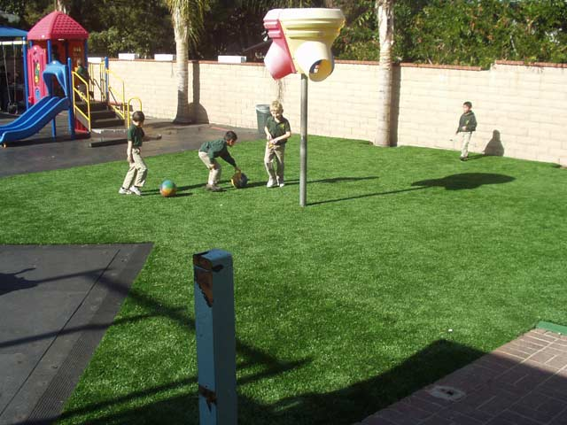 fake grass play area