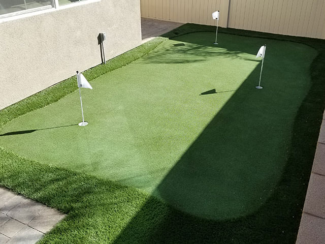 sand trap golf green for home